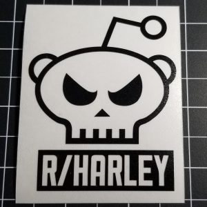 /r/harley die cut skull decal black